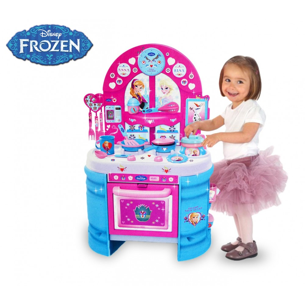 Mega cucina accessoriata Frozen con 17 utensili playset 2 modalità H75 cm 8701