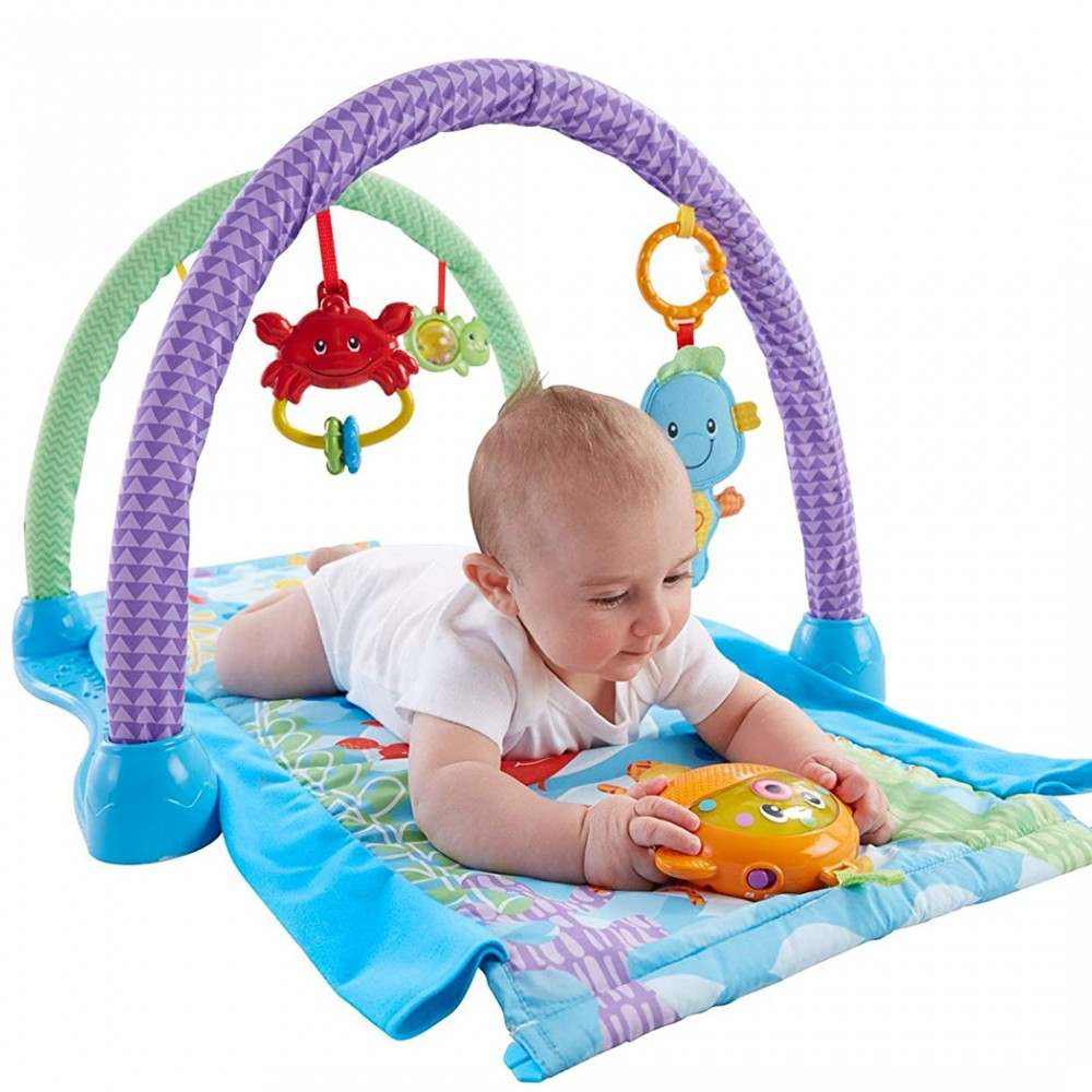 Fisher Price 2 in 1 tappetino 343007 con giochi e musica e tunnel MUSICAL GYM
