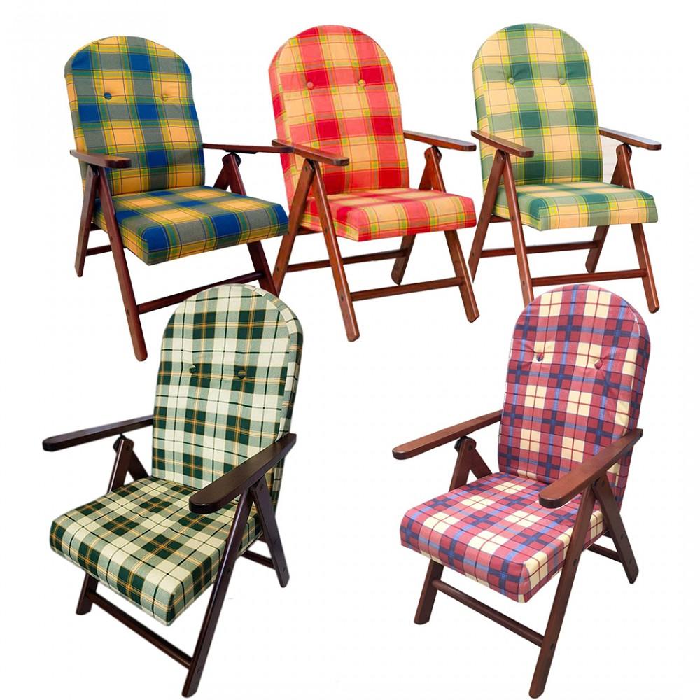 ArtLegno MAS011 Poltrona reclinabile Amalfi 108x65x60cm 4 colori faggio