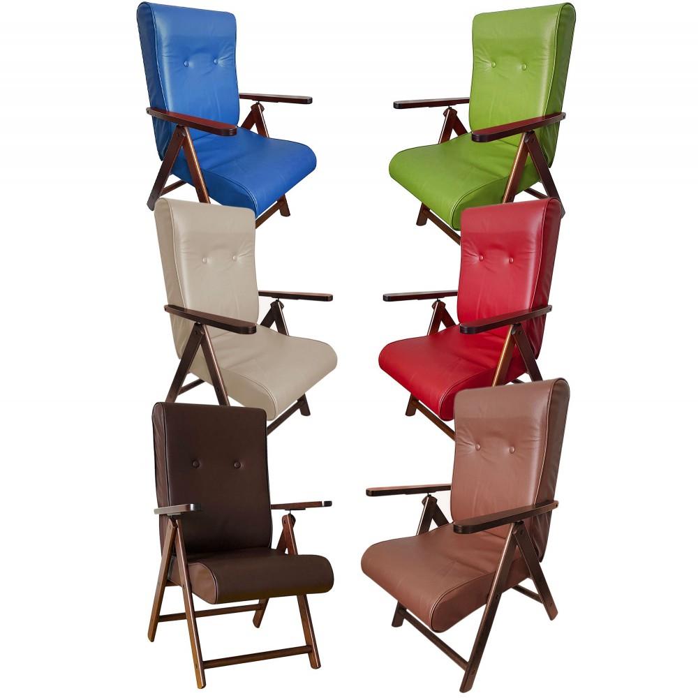 ArtLegno MAS021 Poltrona reclinabile MOLISANA Ecopelle 6 colori 110x48x50cm