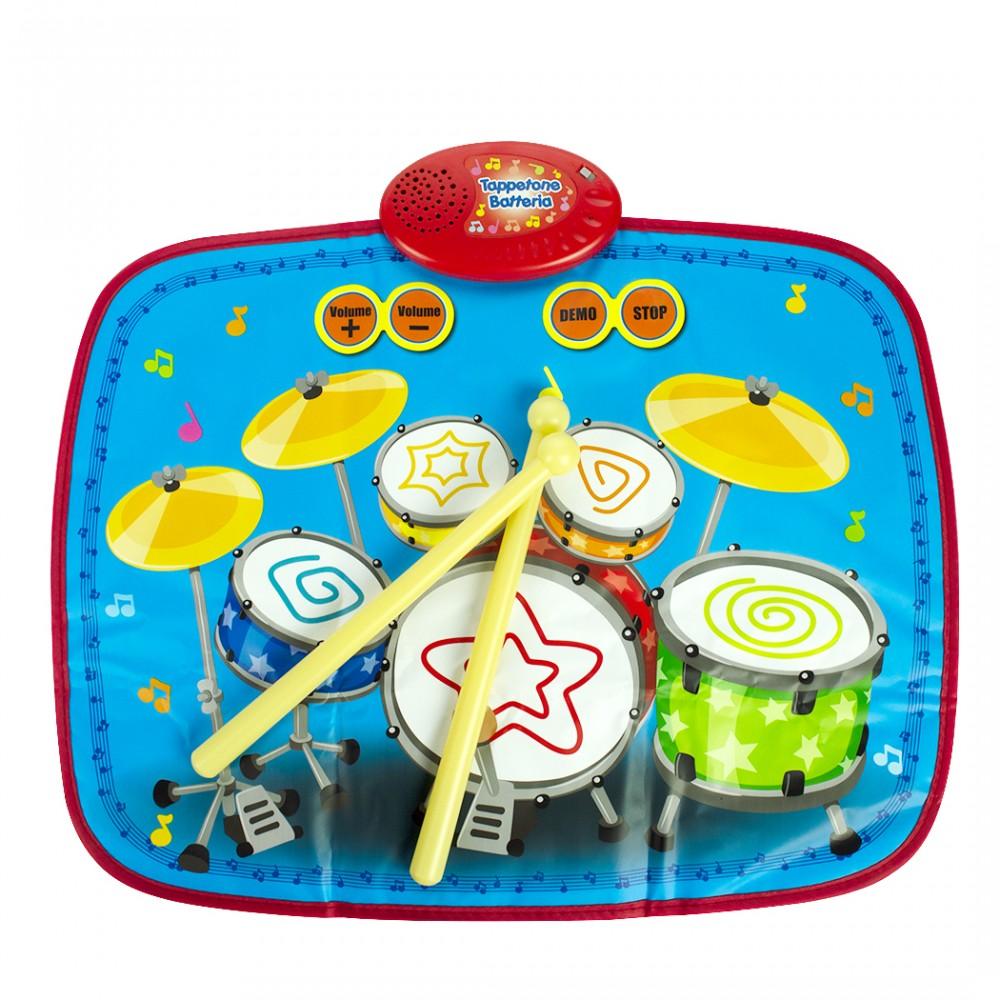Tappetone batteria 720002 con basi preimpostate e simulazioni percussioni
