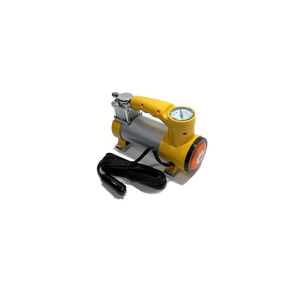 Mini compressore 12 v 150w 35 lt auto bici barche Giallo