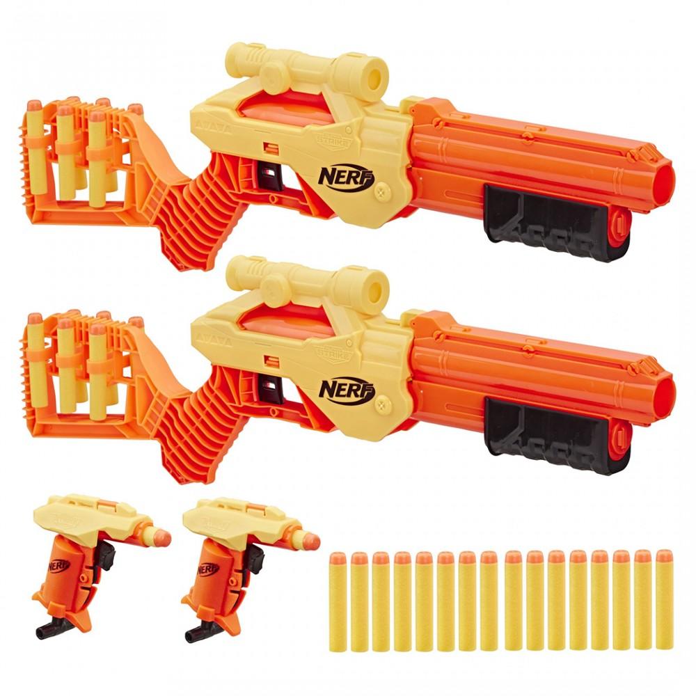Hasbro Nerf Alpha Strike 624638 con 4 armi blaster e 26 dardi in schiuma