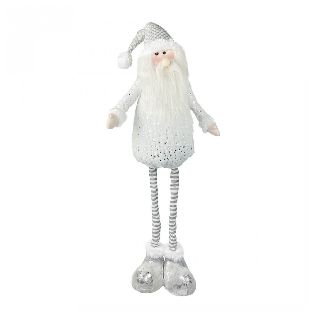 Babbo Natale BIANCO 383029 altezza regolabile da 54 cm fino a 105 in poliestere