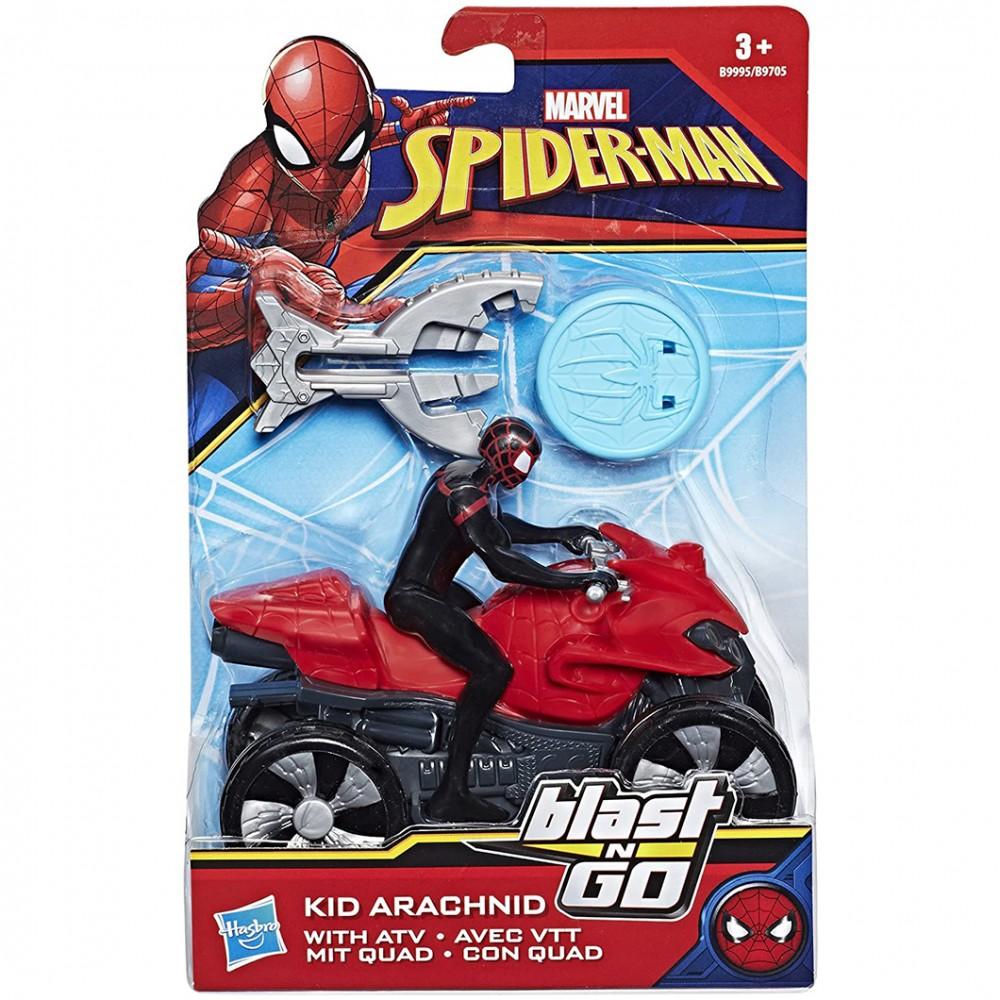 Marvel Spiderman Blast'n Go 458479 quad e proiettile da sparare con lanciatore