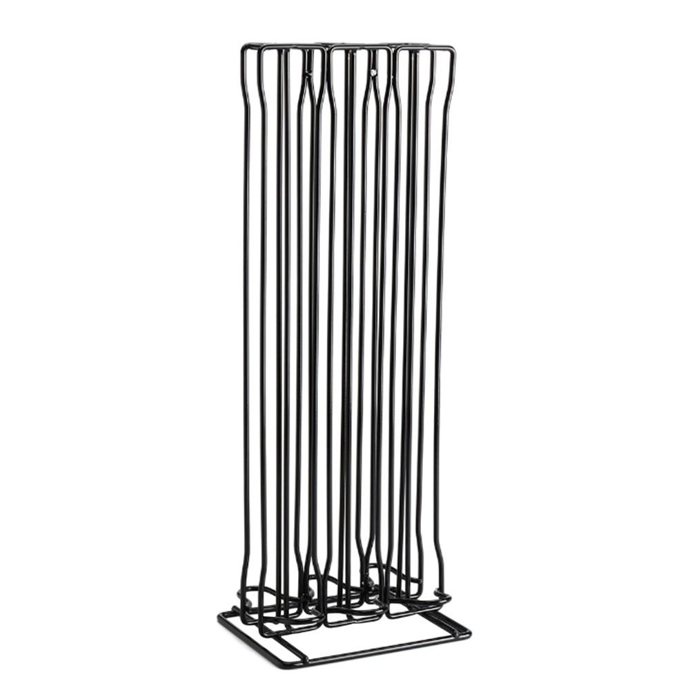 Stand salvaspazio verticale porta 60 capsule in 3 colonne compatibili Nespresso