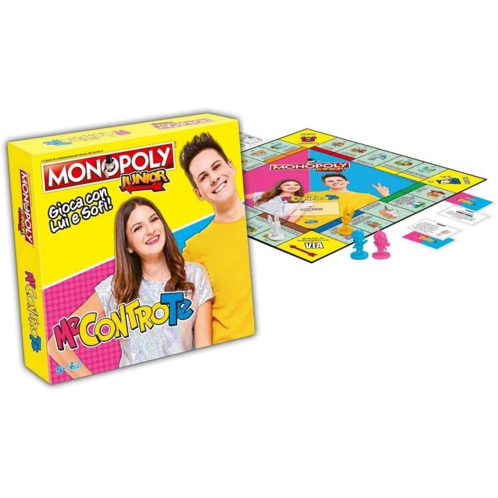 Monopoly JUNIOR 041683 gioca con i ME CONTRO TE gioco da tavola con pedine in 3D