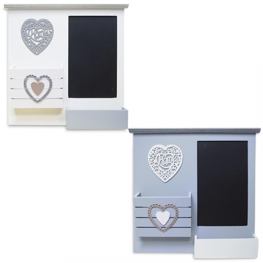 Organizzatore da parete porta lettere in legno art. 444115 con lavagna
