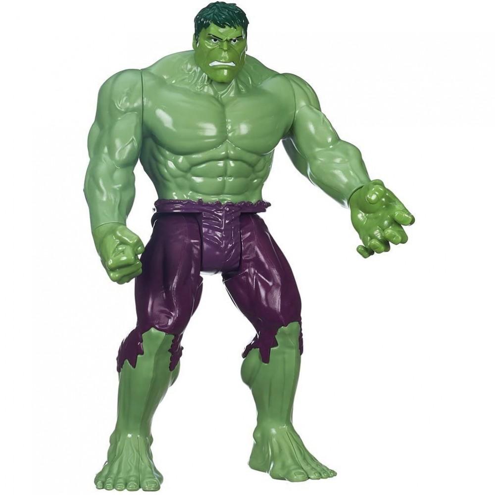 Marvel Avengers Hulk action figure TITAN HERO 30 cm con articolazioni snodate