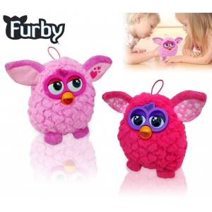 Morbido pupazzo colorato Furby simpatico cucciolo di peluche dal cuore tenero in due varianti di colore 14 cm
