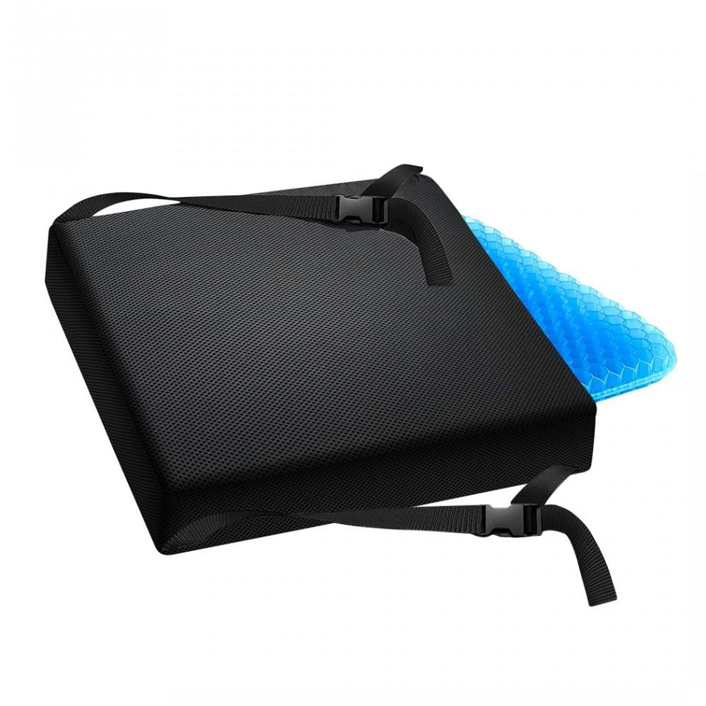 Cuscino lombare in gel traspirante ergonomico 210542 per schiena 33x30x7 cm