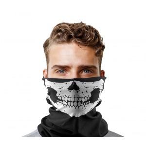 Scaldacollo di tendenza con stampa teschio vestibilità multipla dal design accattivante taglia unica