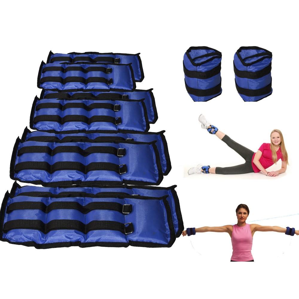 Coppia di pesi da 1,5 a 4 kg per caviglie e polsi fitness jogging palestra
