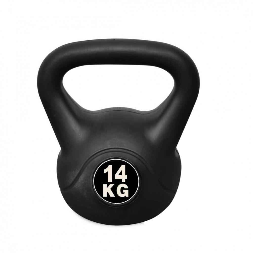 Kettlebell Fitness Da 14kg In Pvc Con Sabbia E Maniglia Anti Sfregamento