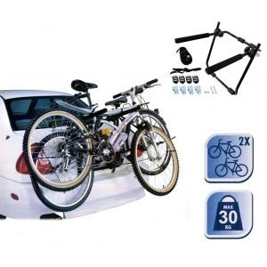 Portabicicletta da auto supporto per trasporto max 2 bici portata da 30 kg per portabagagli di facile installazione