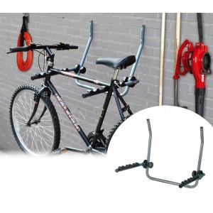 Supporto da parete per biciclette staffa appendi bici salvaspazio garage cantina gancio capacità 2 biciclette