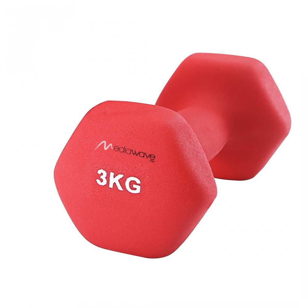 Manubrio in neoprene di 3 kg esercizi 176763 allenamento casa palestra jogging