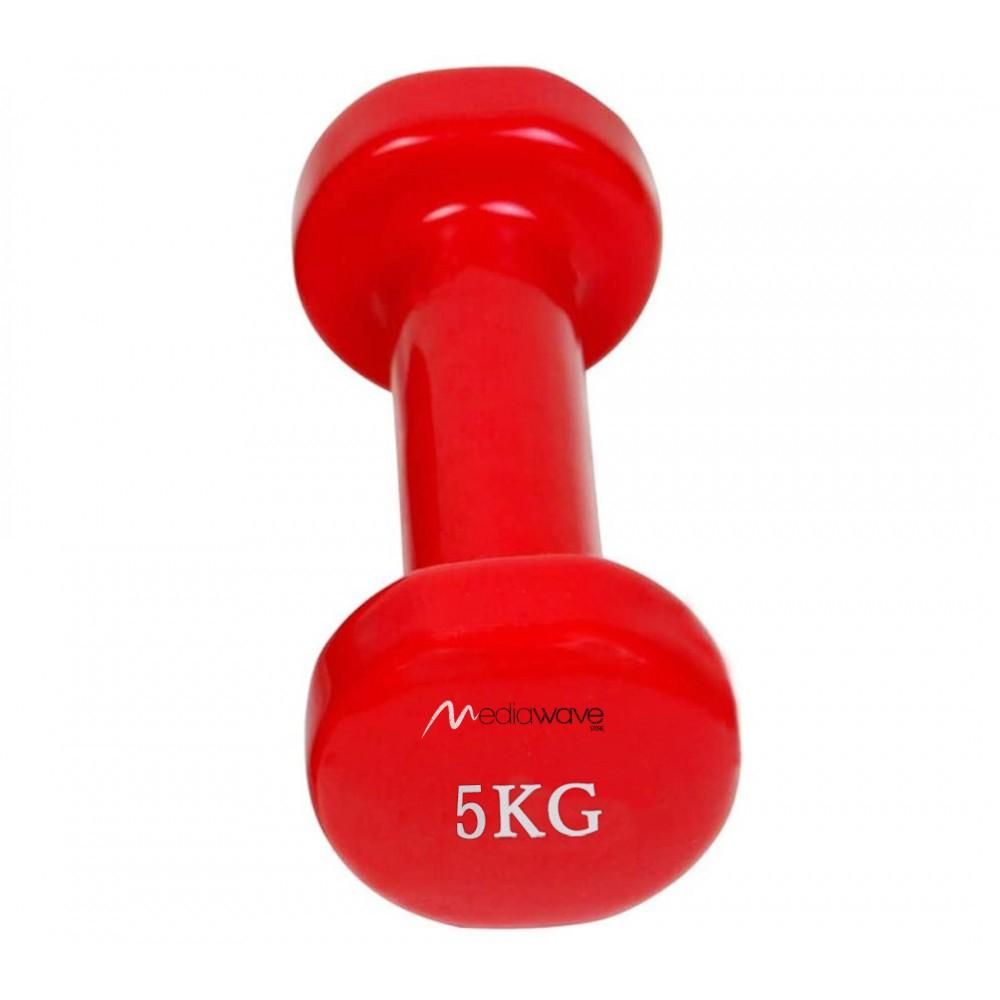 Manubrio in neoprene di 5 kg esercizi 176787 allenamento casa palestra jogging