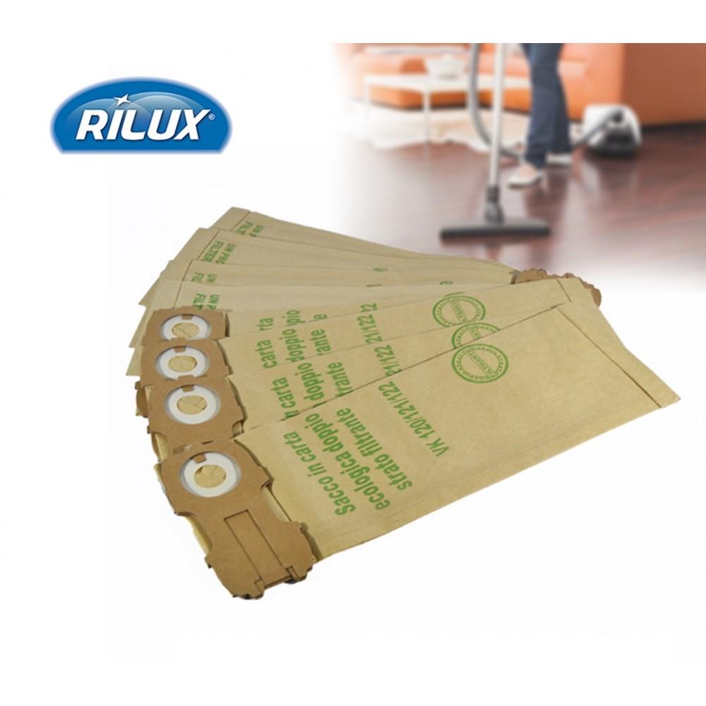 Set 3 sacchetti per filtro in carta compatibili folletto vk 130/131 sacco con chiusura scorrevole