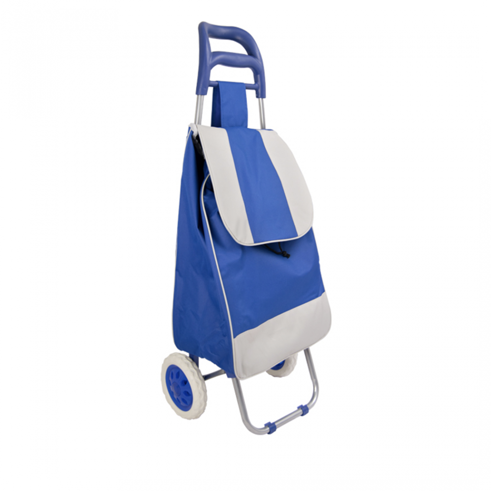 Trolley per la spesa con borsa colore BLU in poliestere art. 741057 con ruote