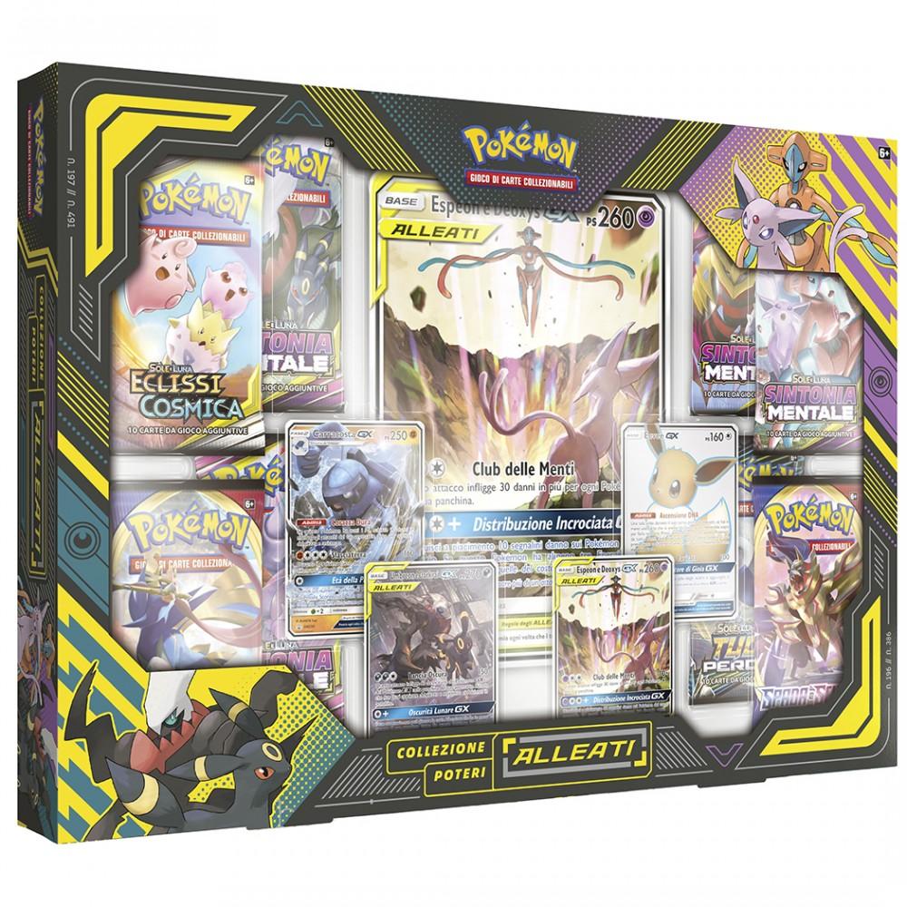 Pokemon collezione Poteri Alleati 309977 gioco di carte Espeon e Deoxys Italiano