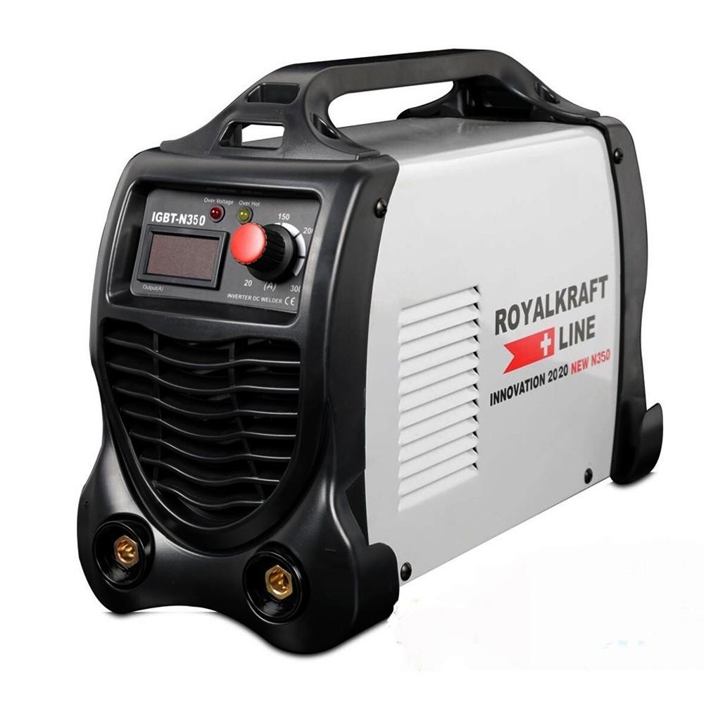 Saldatrice IGBTN350 Inverter 300A ROYAL KRAFT amperometro digitale e maniglia