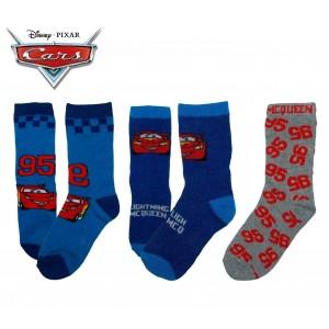 Pack di 3 paia di calzini Disney colorati con stampa spiderman mickey mouse e cars in caldo cotone