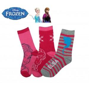 Pack di 3 paia di calzini Disney colorati con stampa cartoni animati per bambine