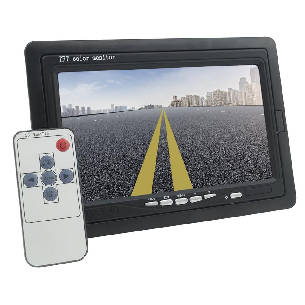 Monitor lcd tft 7' ideale per poggiatesta e sorveglianza con stand e telecomando