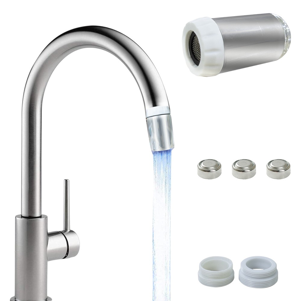 Filtro rubinetto dell'acqua a LED Light universale flusso colorato cromoterapia