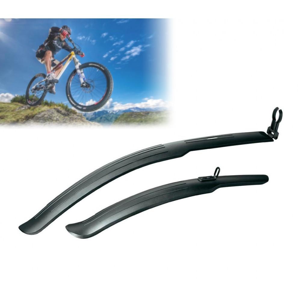 Coppia di parafanghi paraspruzzi universale per biciclette incluso kit di fissaggio MUDGUARDS 68304