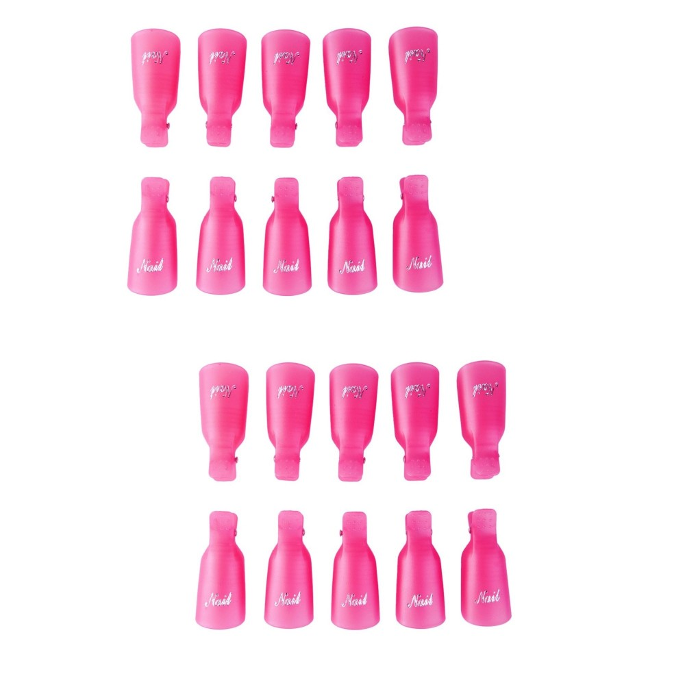 Kit 20 pz Clip Rimuovi Gel e Semipermanente 3422 per Unghie Nail Art