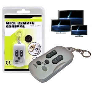 Mini telecomando per Tv universale con gancio portachiavi leggero e compatto utile da portare sempre con se