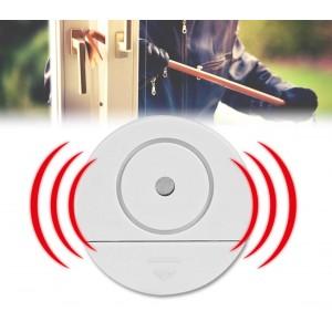Allarme porte e finestre  SAFE ALARM tondo funzione antifurto protezione casa negozio 98 dB senza fili