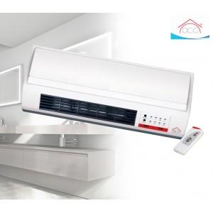Termoventilatore a parete DCG TCM55T 2000 Watt termobagno con doppia potenza + telecomando