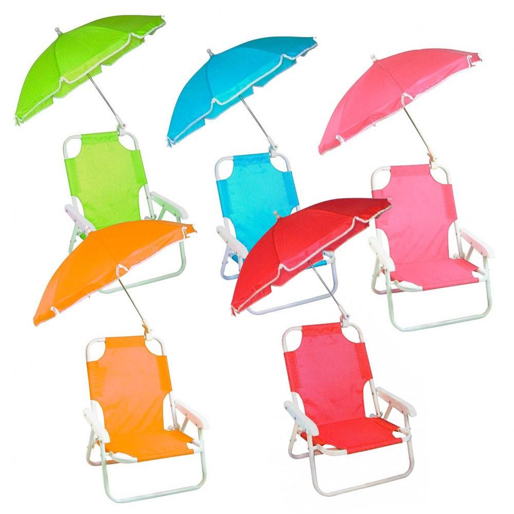 Sedia pieghevole per bambini 2576 con ombrellino protezione raggi uv