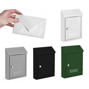 Cassetta postale in lamiera verniciata con serratura a cilindro e tetto parapioggia in vari colori