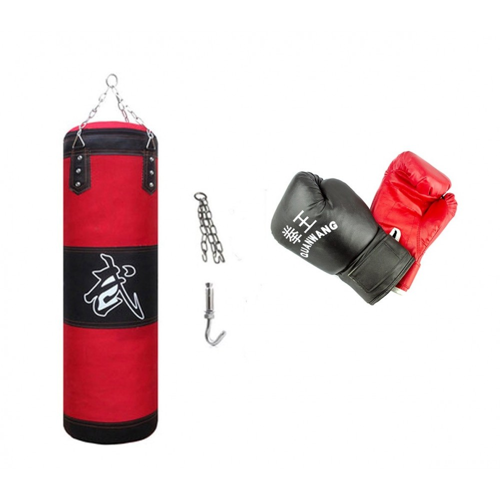 Kit all in one da Boxe 10749 con sacco guantoni e gancio per allenamenti