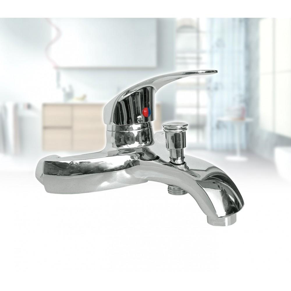Miscelatore rubinetto per vasca universale in acciaio cromato