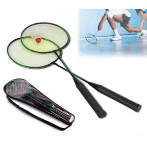 Coppia di racchette per badminton VOLANO con custodia