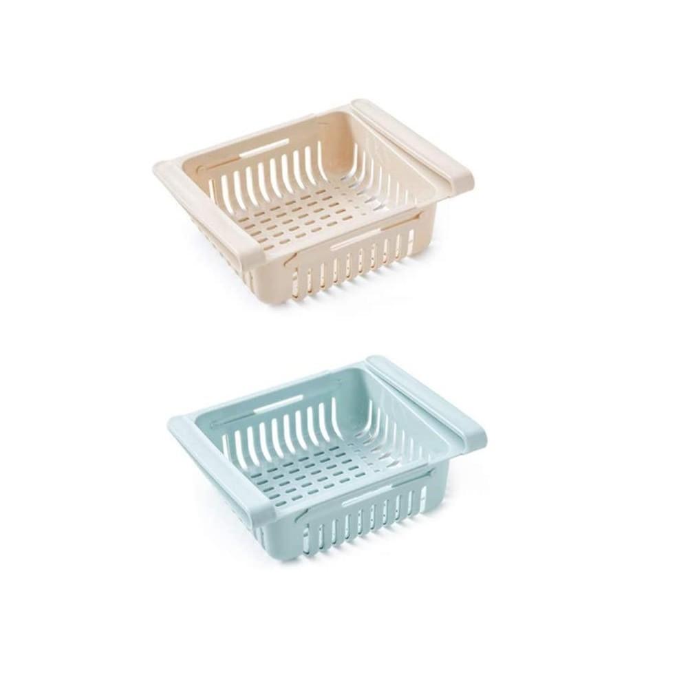 Set 2 pz Cassetti per Frigorifero 187325 Organizer Estensibile in Plastica frigo