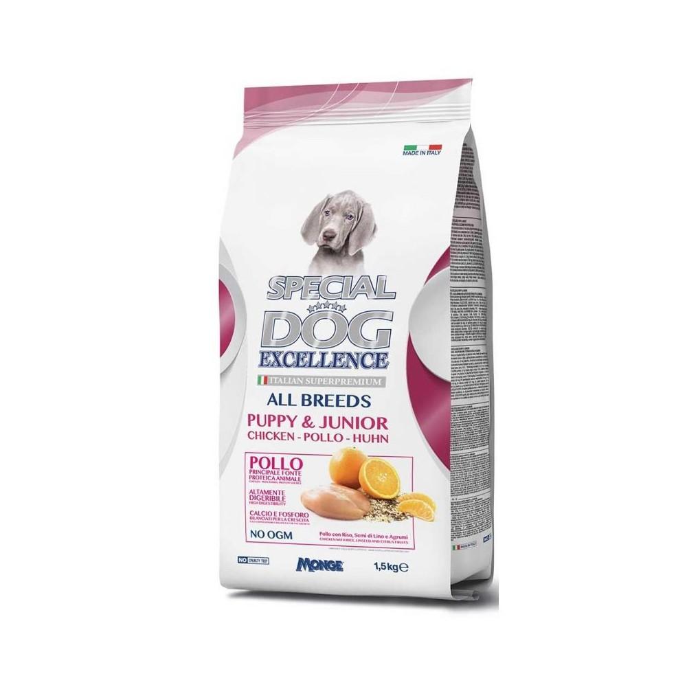 Monge Special Dog 060011 Excellence All Breeds Puppy & Junior a Pollo 1,5 kg