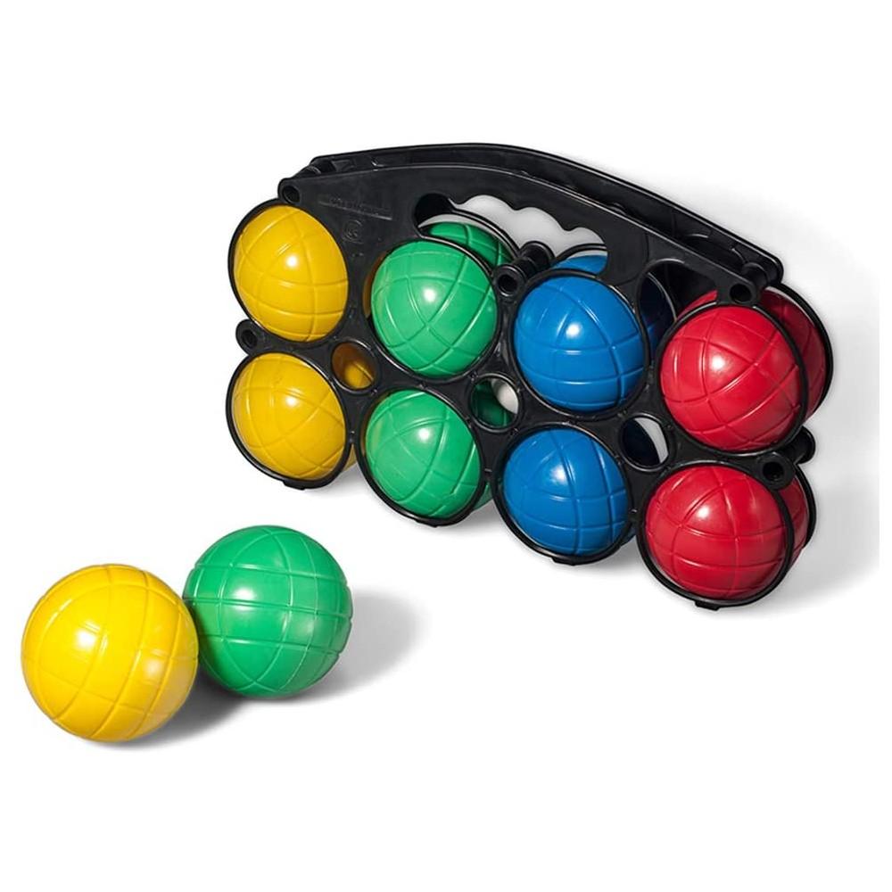 Set di bocce con 8 sfere in 4 colori diversi in plastica 010637 boccino bianco