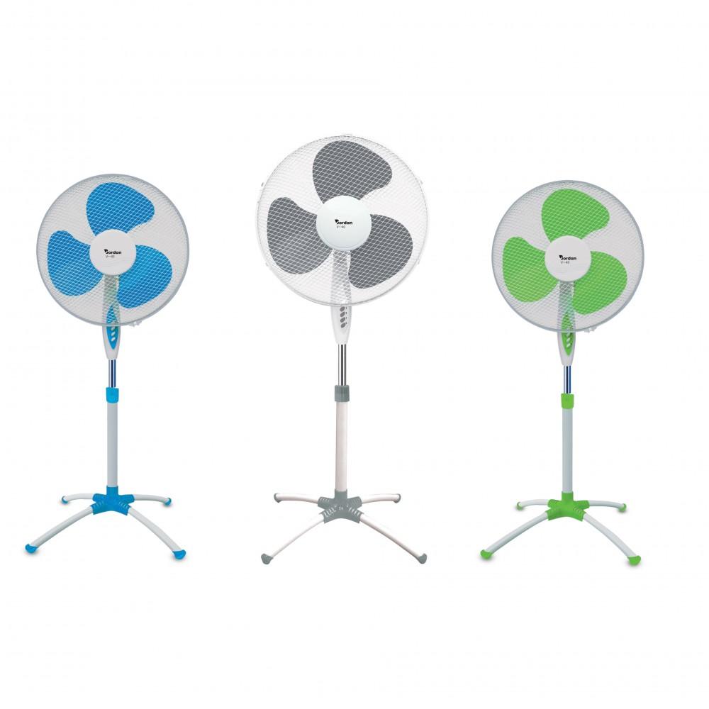 Ventilatore a Piantana Jordan V-40 da 45 Watt 3 Velocità Oscillante base a ragno