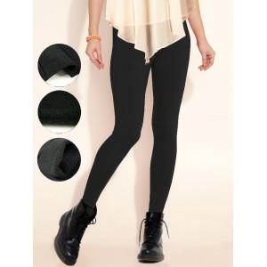 Set 12 leggings in vari colori donna effetto termico interno felpato elasticizzato collant winter fuseaux