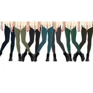 Image of Set 12 leggings in vari colori donna effetto termico felpato collant winter 8021346487623