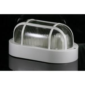 Plafoniera applique con griglia a tartaruga bianca adatta sia per esterni che interni installazione a muro campana in vetro