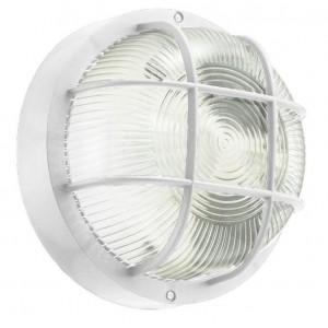 Plafoniera applique tonda griglia tartaruga bianca adatta sia per esterni che interni installazione a muro campana in vetro