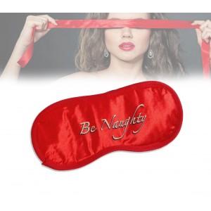 Set di 3 accessori sexy gioco bondage sadomaso rosso con manette e mascherina