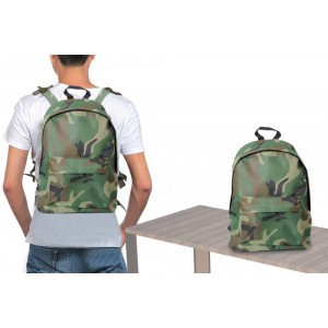Zaino a spalla camouflage doppio scomparto pratico e leggero